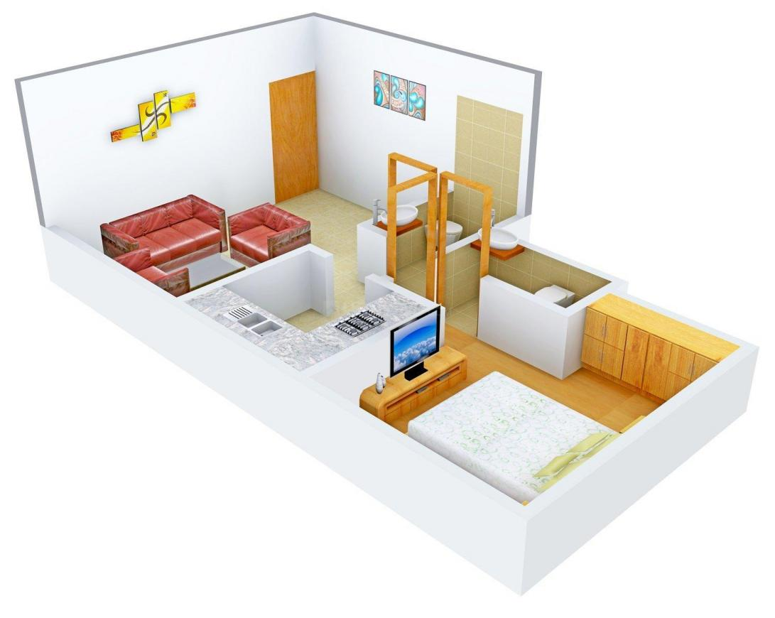Floor Plan Image of 0 - 625 Sq.ft 1 BHK Apartment for buy in Supertech Next Level Residency