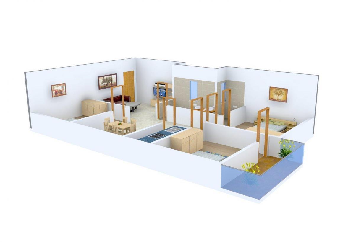 Floor Plan Image of 1064.0 - 1176.0 Sq.ft 3 BHK Apartment for buy in GM Meena Glory