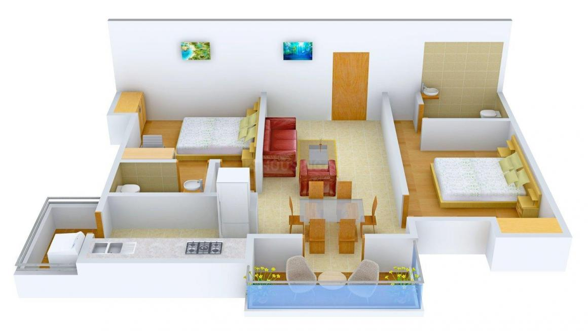 Floor Plan Image of 855.0 - 1215.0 Sq.ft 2 BHK Apartment for buy in VME Asta