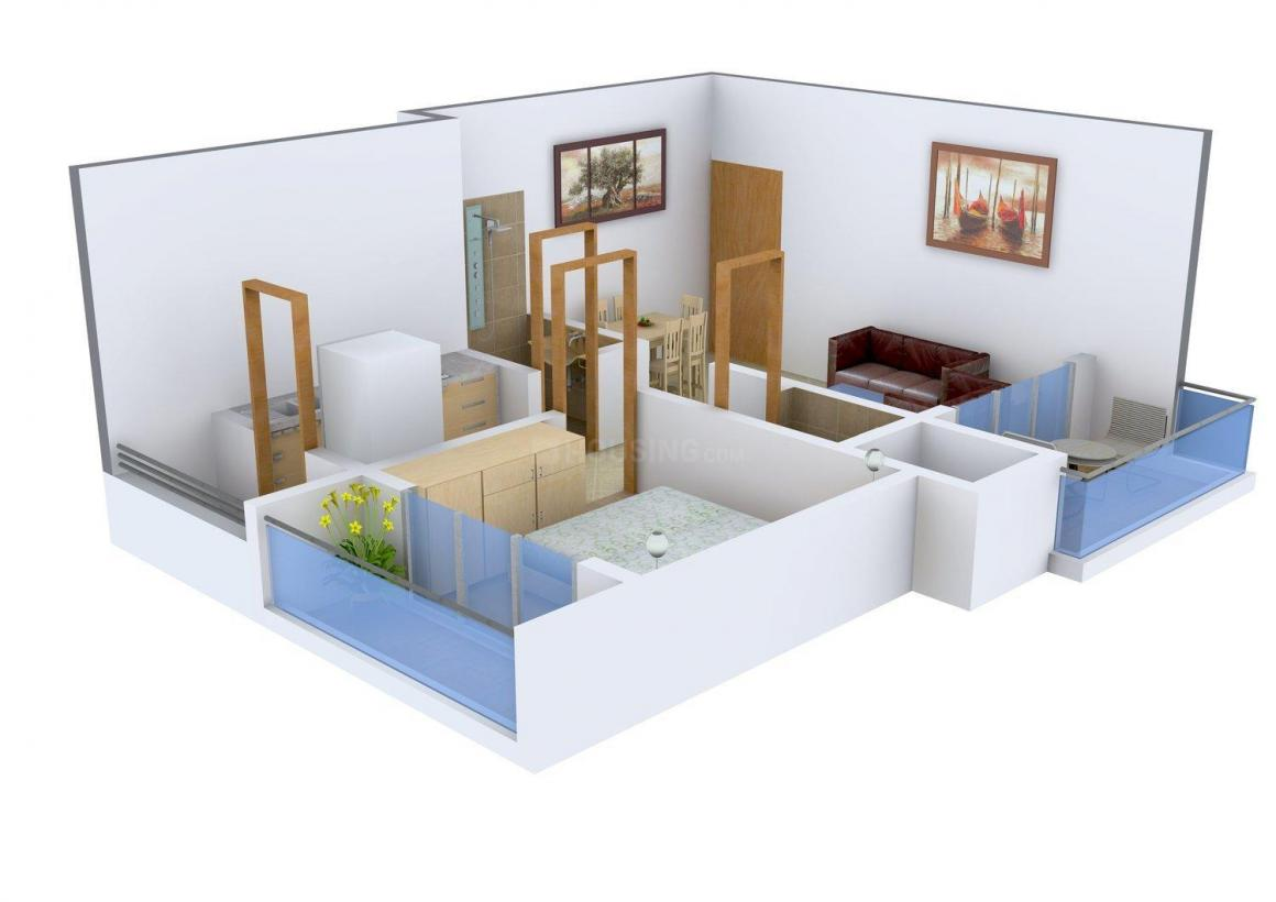 Floor Plan Image of 0 - 750.0 Sq.ft 1 BHK Apartment for buy in S.M Look