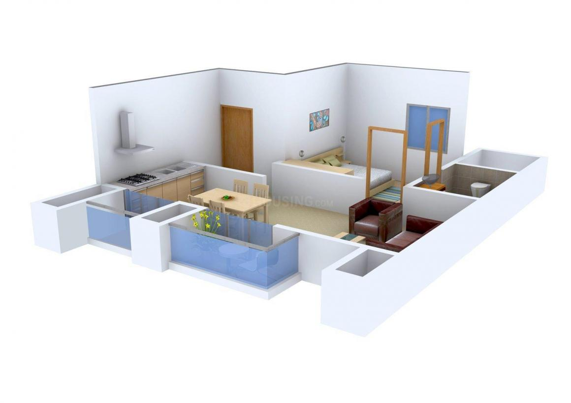 Floor Plan Image of 0 - 545.0 Sq.ft 1 BHK Apartment for buy in Khatri Om Sai Complex