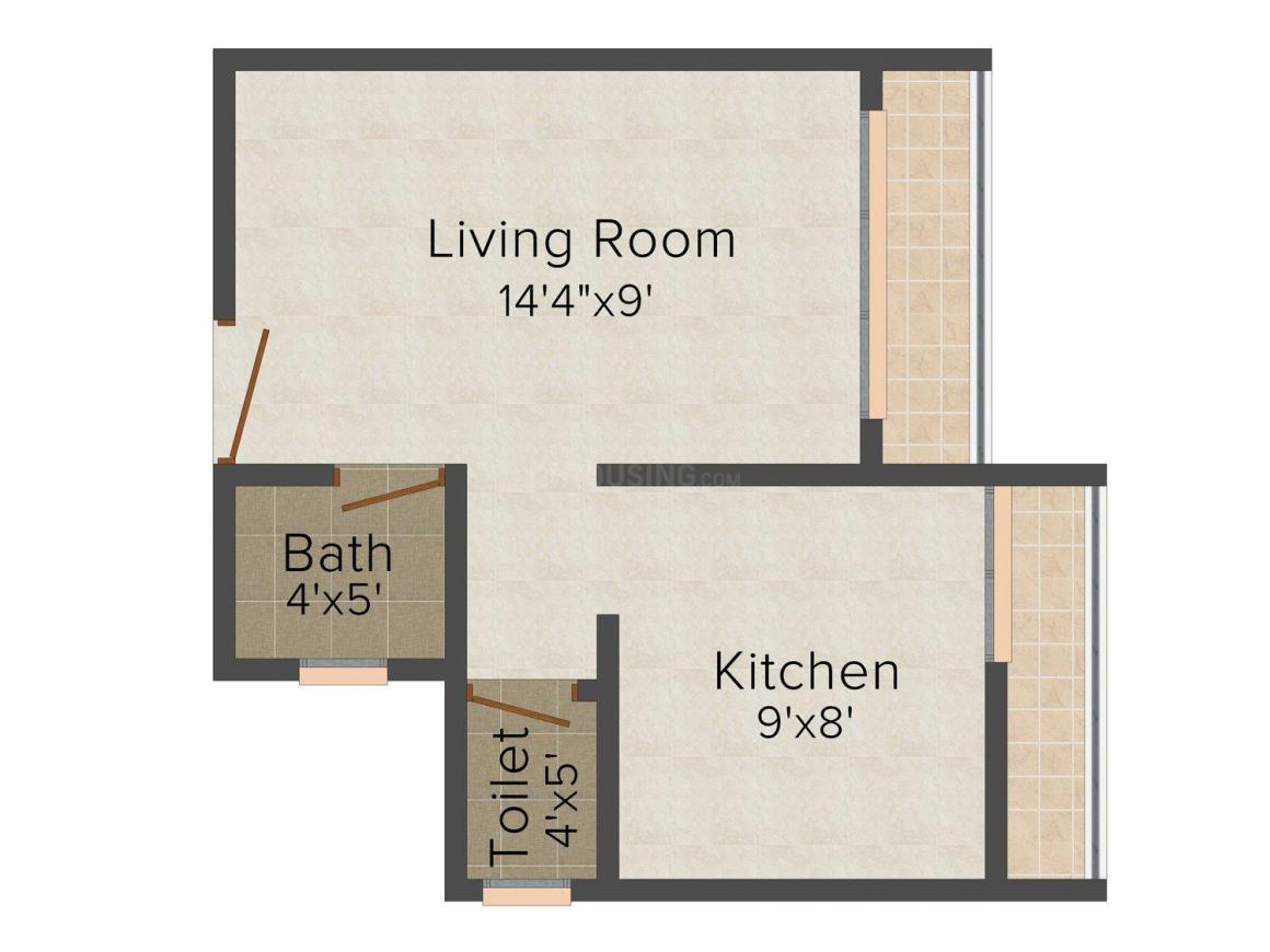 Floor Plan Image of 435 - 641 Sq.ft 1 RK Apartment for buy in Brothers Jai Ambe Apartment