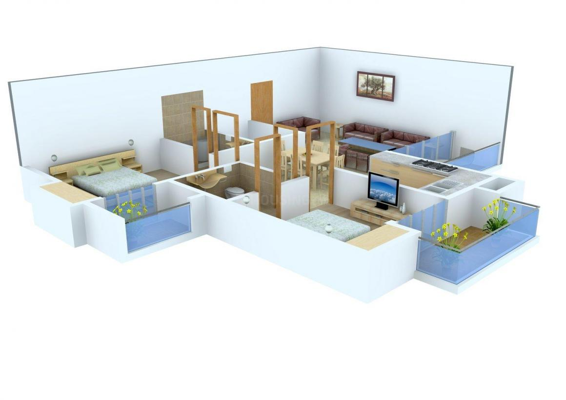 River Vrindavan Green Floor Plan: 2 BHK Unit with Built up area of 1190 sq.ft 1