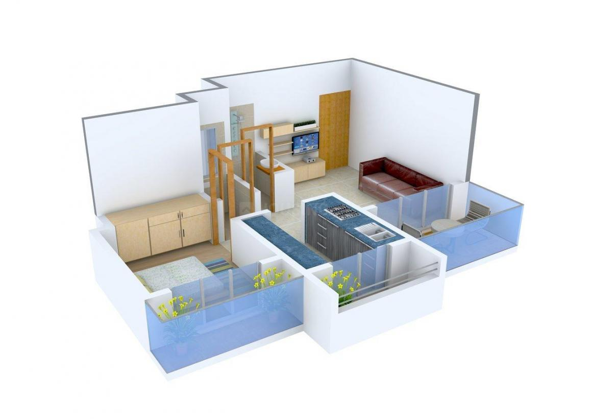 Floor Plan Image of 610 - 945 Sq.ft 1 BHK Apartment for buy in Shantee Sunshine Hills