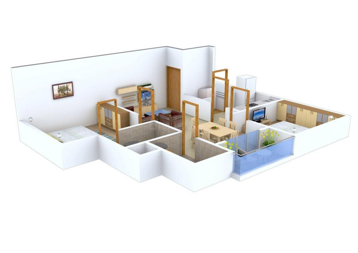 Floor Plan Image of 774.0 - 1442.0 Sq.ft 2 BHK Apartment for buy in Dhammanagi Lilium Gardenia