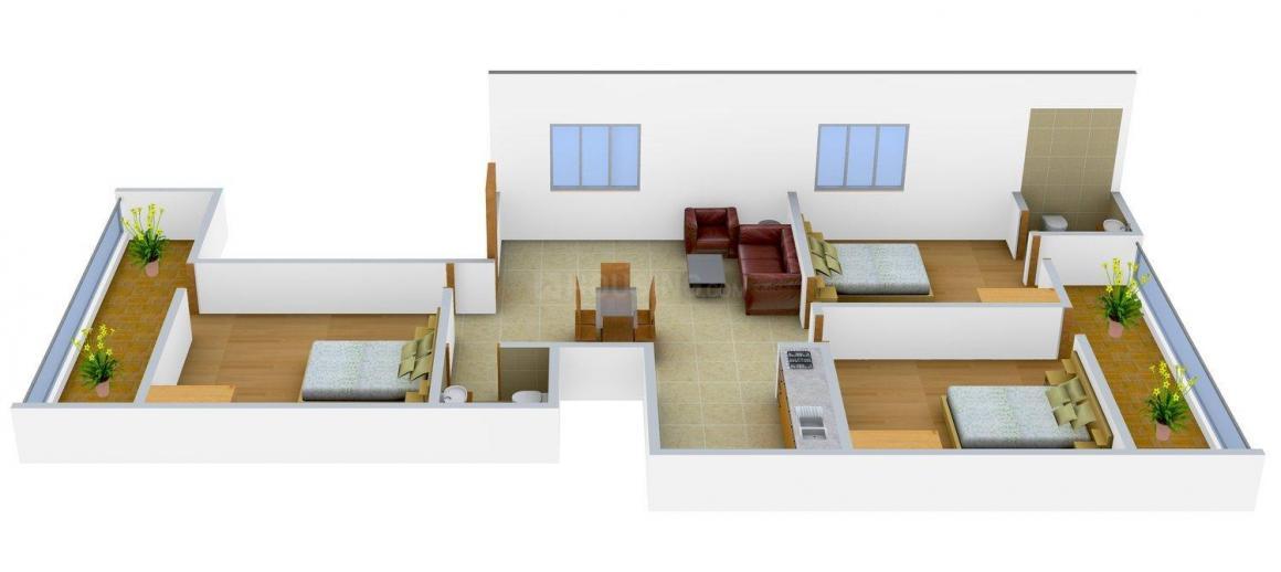 Shri Balaji Buildcon Site - Pandav Nagar Floor Plan: 3 BHK Unit with Built up area of 1350 sq.ft 1