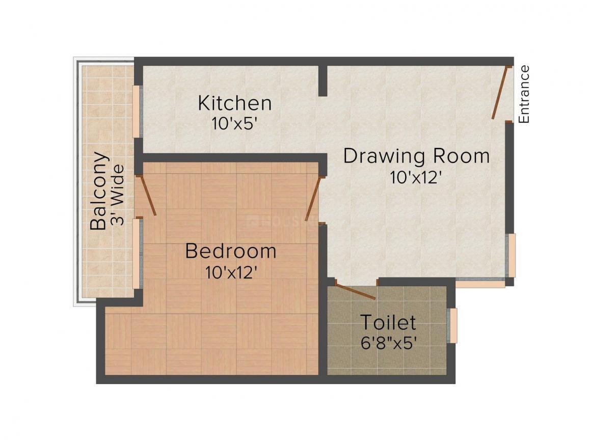 Floor Plan Image of 0 - 450 Sq.ft 1 BHK Independent Floor for buy in Jai Shri Balaji New Manglapuri