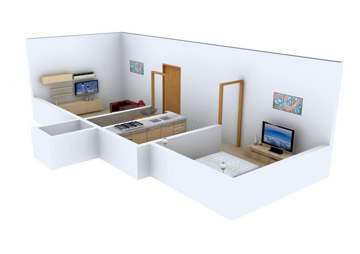 Floor Plan Image of 354 - 499 Sq.ft 1 BHK Apartment for buy in Adinath CHS
