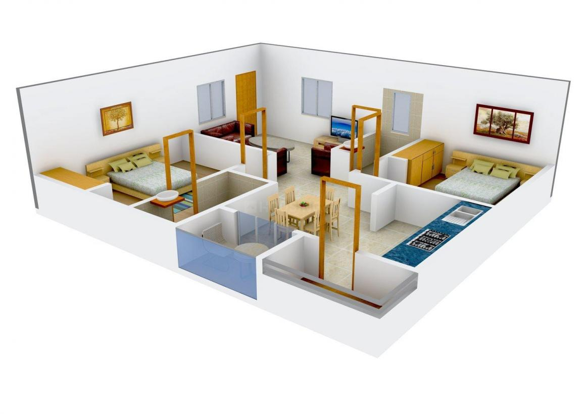 Floor Plan Image of 1100 - 1500 Sq.ft 2 BHK Apartment for buy in RV Etania