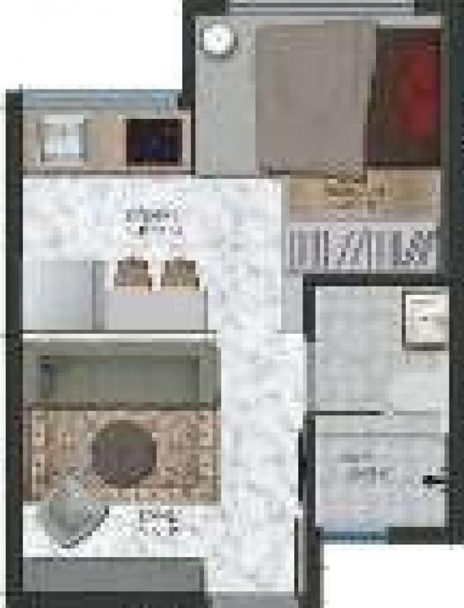 Xrbia SingaPune Ph 1 Floor Plan: 1 BHK Unit with Built up area of 195 sq.ft 1