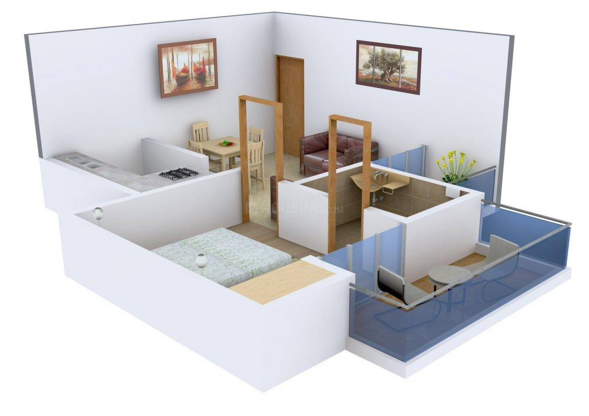 Floor Plan Image of 480.0 - 1260.0 Sq.ft 1 BHK Apartment for buy in Ekdant Palace