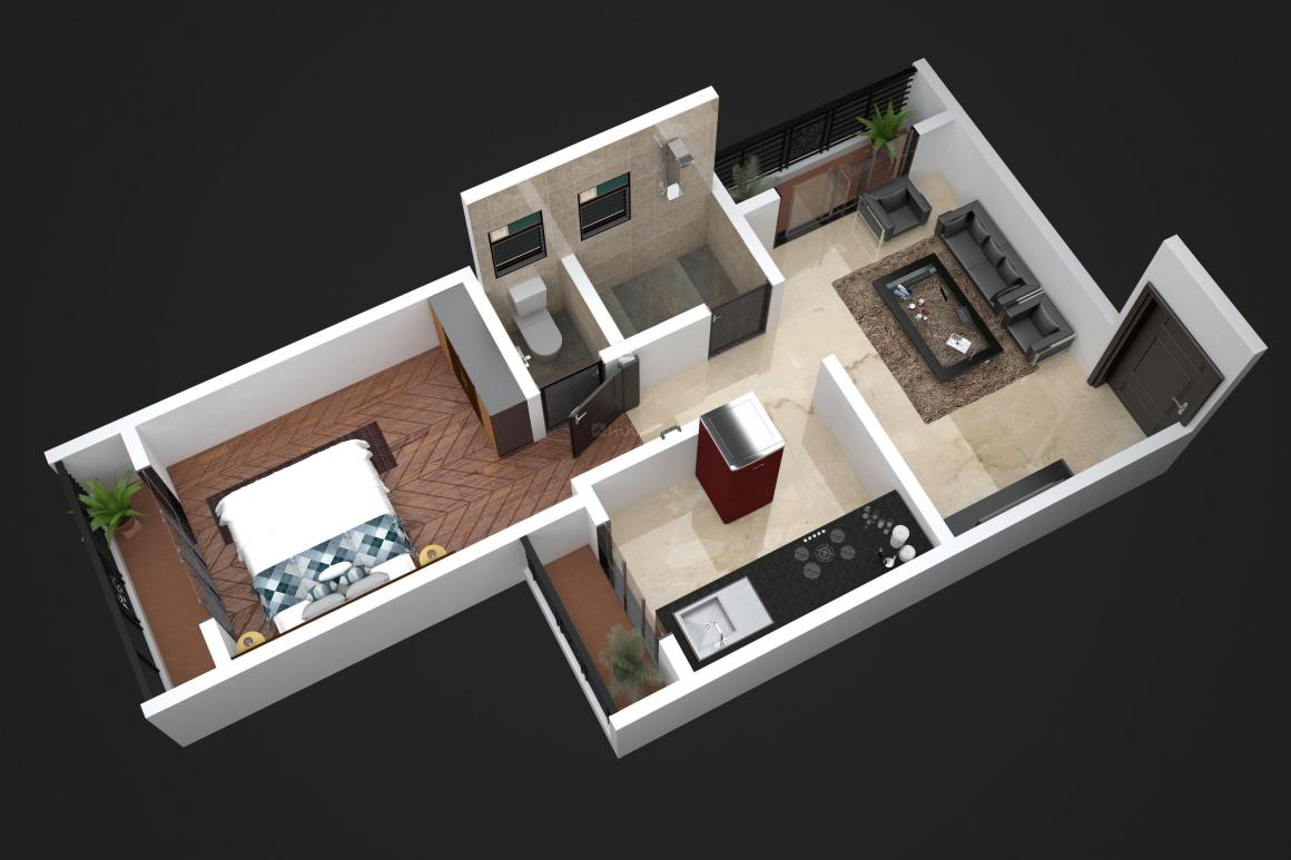 Vidhi Prem Floor Plan: 1 BHK Unit with Built up area of 416 sq.ft 1