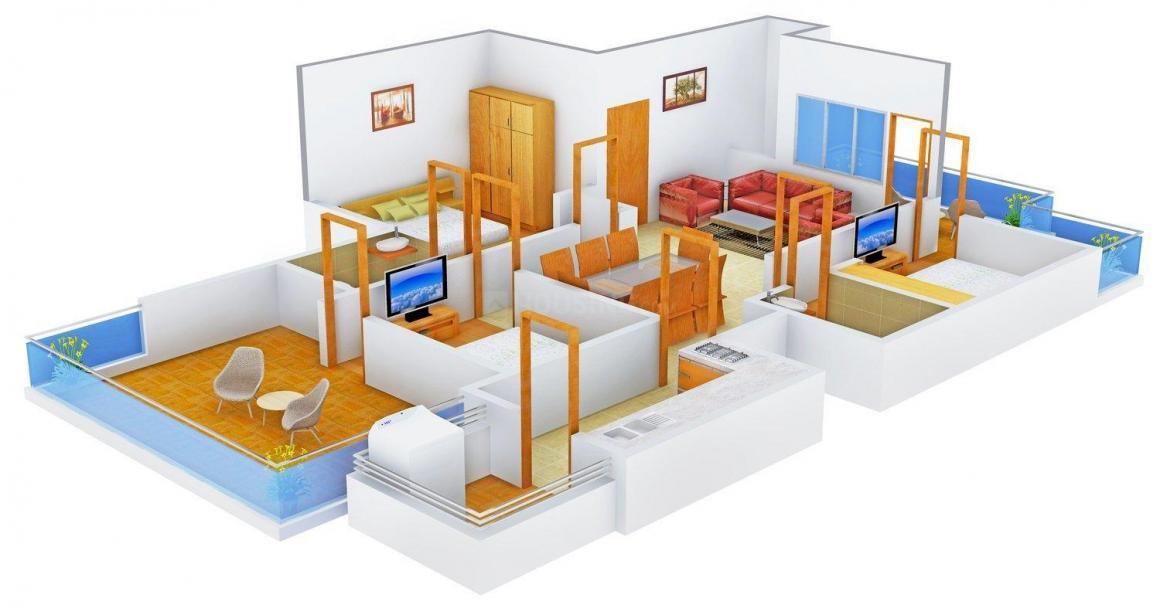 Floor Plan Image of 1053.0 - 1178.0 Sq.ft 3 BHK Independent Floor for buy in Media OD-59