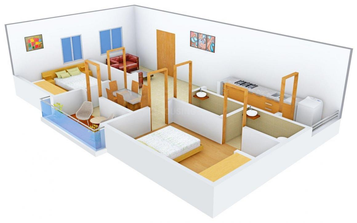 HariKrishna Harikrishna Aditya Palace Floor Plan: 2 BHK Unit with Built up area of 965 sq.ft 2