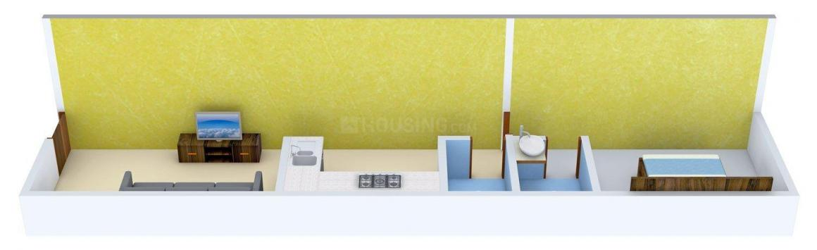 Swaroop Marvel Gold Phase 1 Floor Plan: 1 BHK Unit with Built up area of 370 sq.ft 1