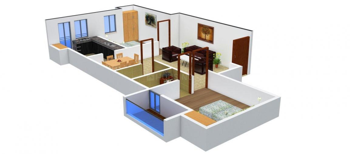 Floor Plan Image of 0 - 938 Sq.ft 2 BHK Apartment for buy in Shri Krisshna Radha Villa