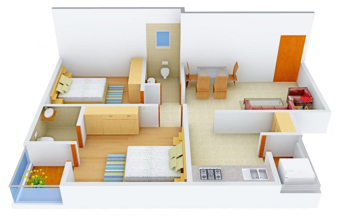 Floor Plan Image of 946.0 - 1278.0 Sq.ft 2 BHK Apartment for buy in Dev Vihar 2