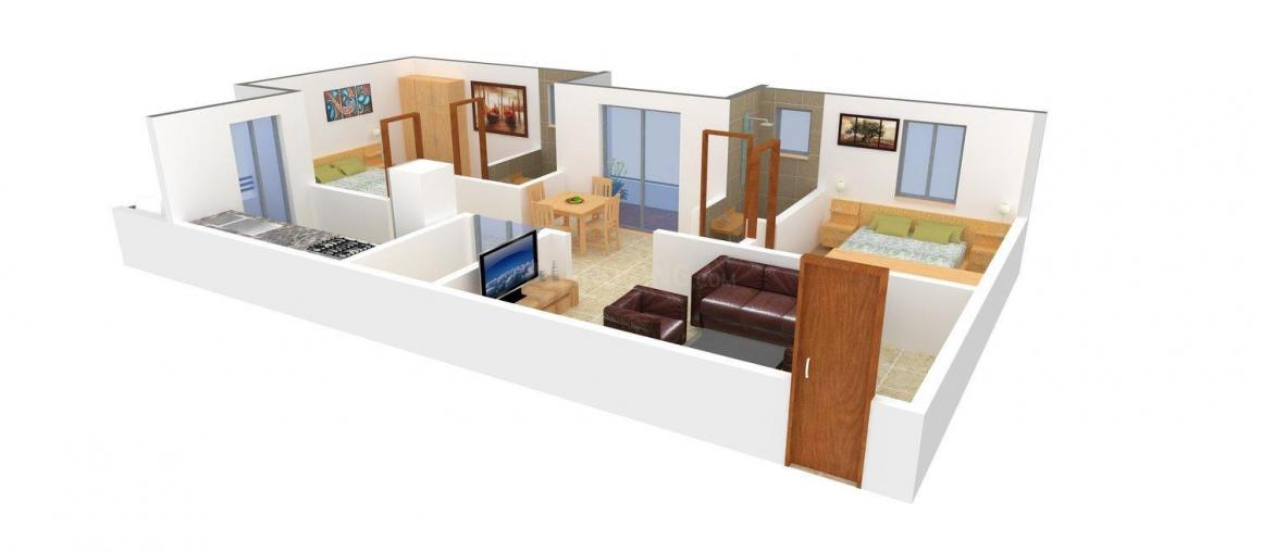 Floor Plan Image of 0 - 1105.0 Sq.ft 2 BHK Apartment for buy in SVS Royal Pearl