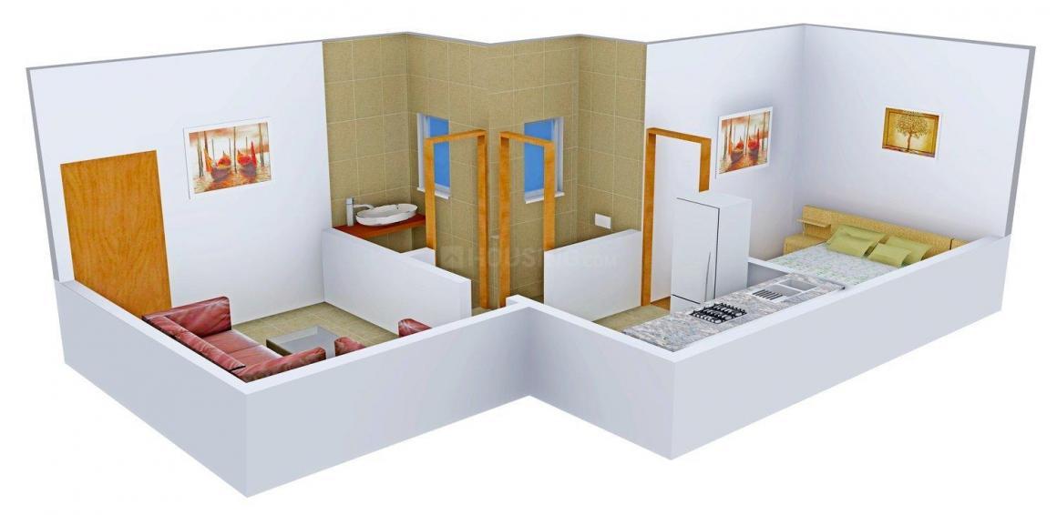 Floor Plan Image of 435 - 651 Sq.ft 1 BHK Apartment for buy in Viva Swarangan
