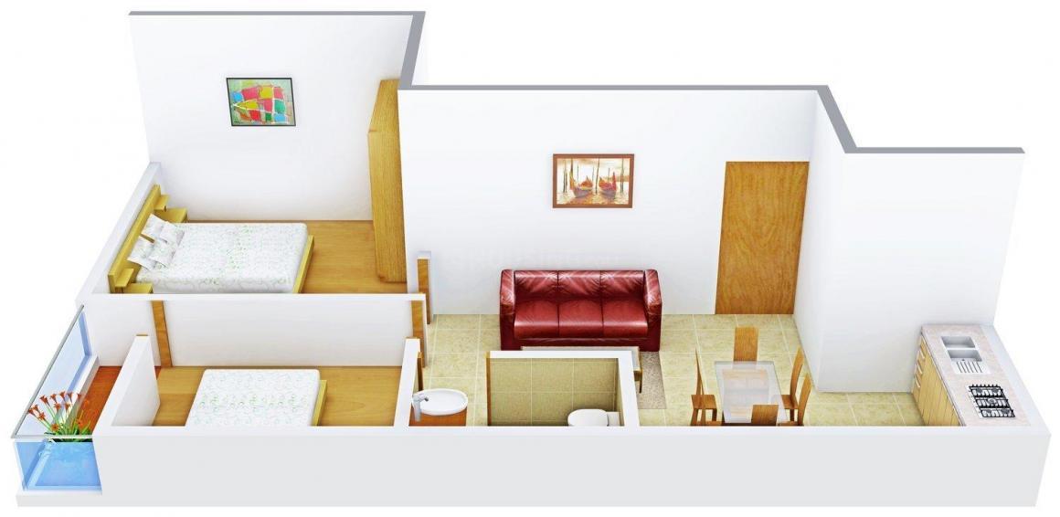 Floor Plan Image of 666.0 - 1042.0 Sq.ft 2 BHK Apartment for buy in Parivar Rejoice