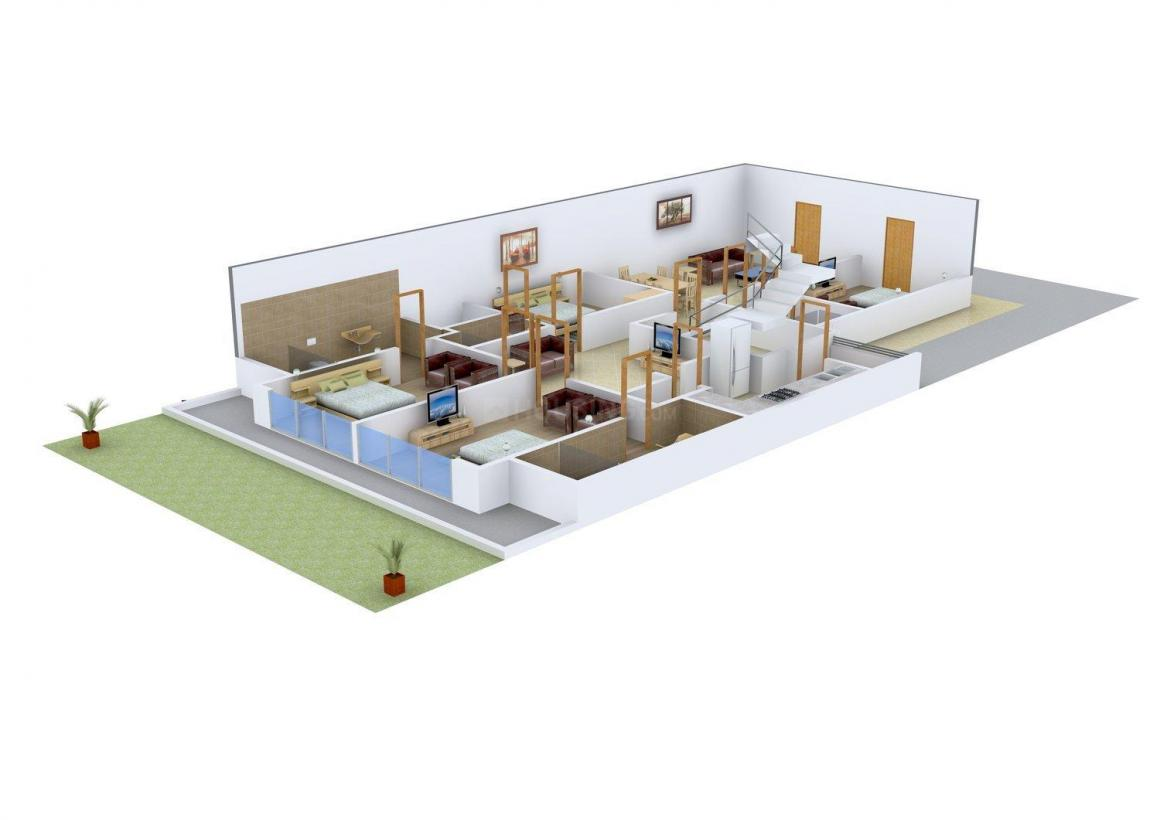 Osakaa Floor No. 4 Floor Plan: 4 BHK Unit with Built up area of 2200 sq.ft 1