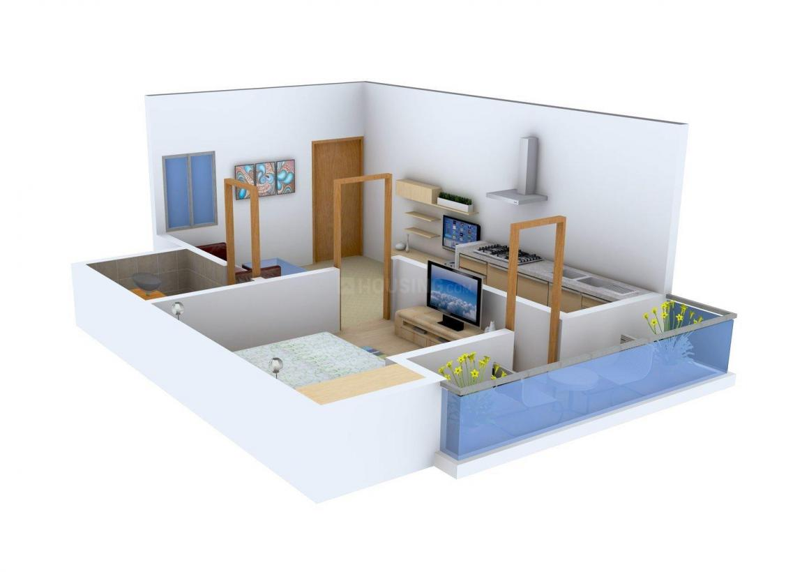 Floor Plan Image of 0 - 450 Sq.ft 1 BHK Apartment for buy in JSB New Mangla Puri