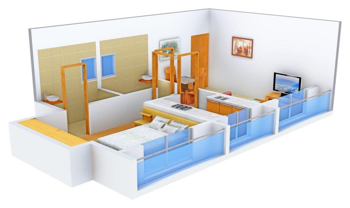 Floor Plan Image of 670.0 - 1100.0 Sq.ft 1 BHK Apartment for buy in Shree Chintamani Valeria