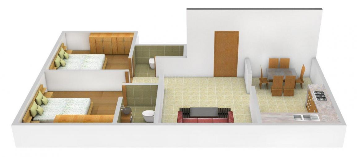 Floor Plan Image of 0 - 835.0 Sq.ft 2 BHK Independent Floor for buy in Sruthi Royale