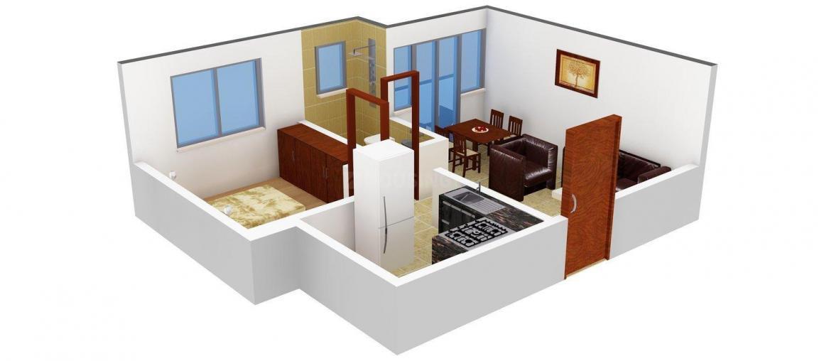 Floor Plan Image of 550.0 - 1010.0 Sq.ft 1 BHK Apartment for buy in Jupiter Commanders Glory