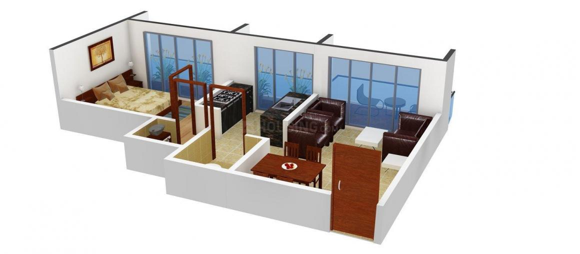 Floor Plan Image of 428 - 1050 Sq.ft 1 BHK Apartment for buy in Unnati Aangan