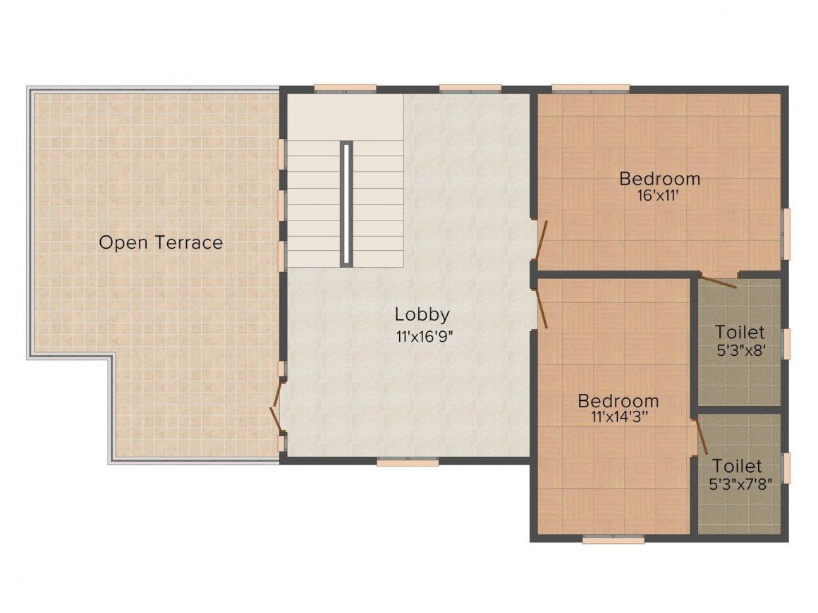 Floor Plan Image of 0 - 2350.0 Sq.ft 3 BHK Villa for buy in  Aishwaryaa
