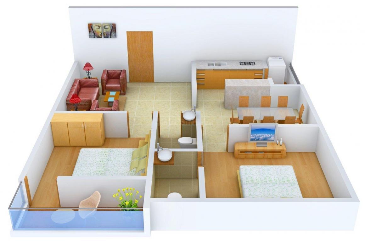 Floor Plan Image of 0 - 1167 Sq.ft 2 BHK Apartment for buy in Sunrise Mani Residency