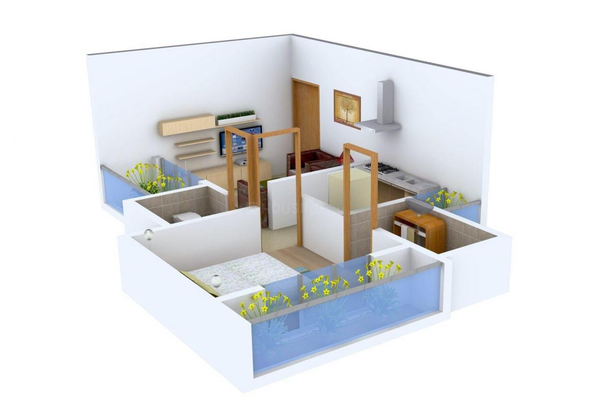 Floor Plan Image of 590.0 - 640.0 Sq.ft 1 BHK Apartment for buy in Madhuraaj Siddheshwar