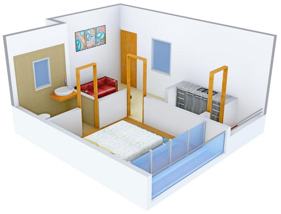 Floor Plan Image of 0 - 495.0 Sq.ft 1 BHK Apartment for buy in Aayat Taiba Residency