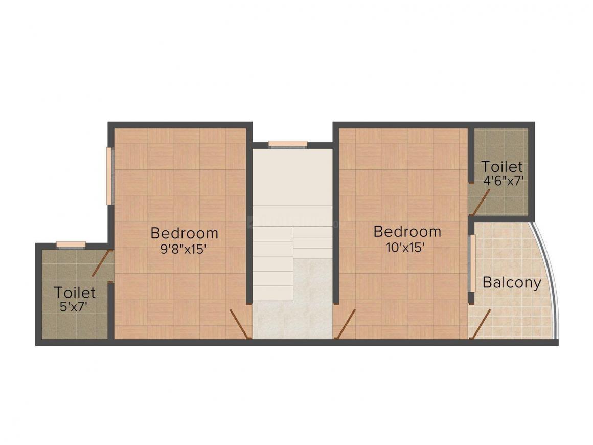 Floor Plan Image of 0 - 1225 Sq.ft 2 BHK Duplex for buy in Om Royal Homes