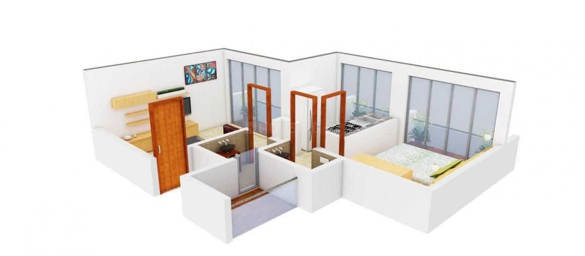 Laxmi Aashirwad Floor Plan: 1 BHK Unit with Built up area of 655 sq.ft 1