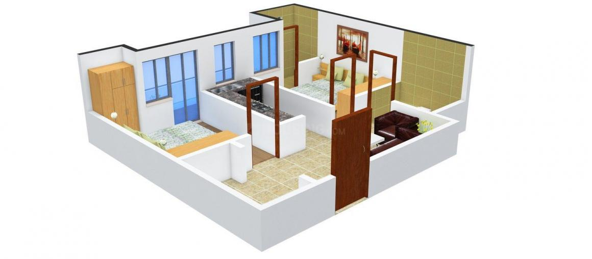 Floor Plan Image of 700 - 950 Sq.ft 2 BHK Apartment for buy in  West Line Heights