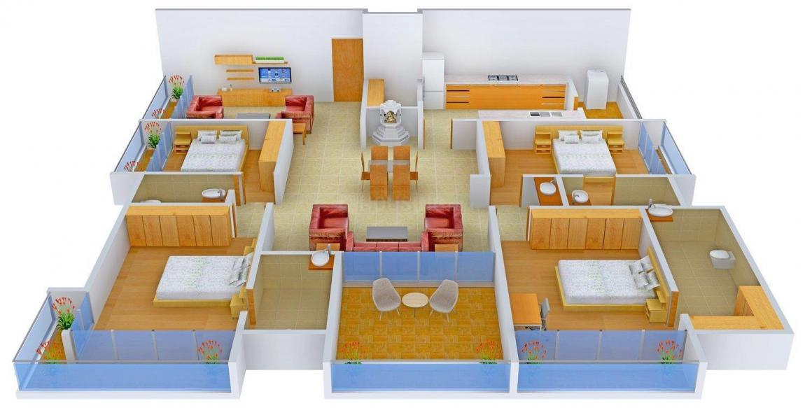 Plastene Aman Heights Floor Plan: 4 BHK Unit with Built up area of 3600 sq.ft 1