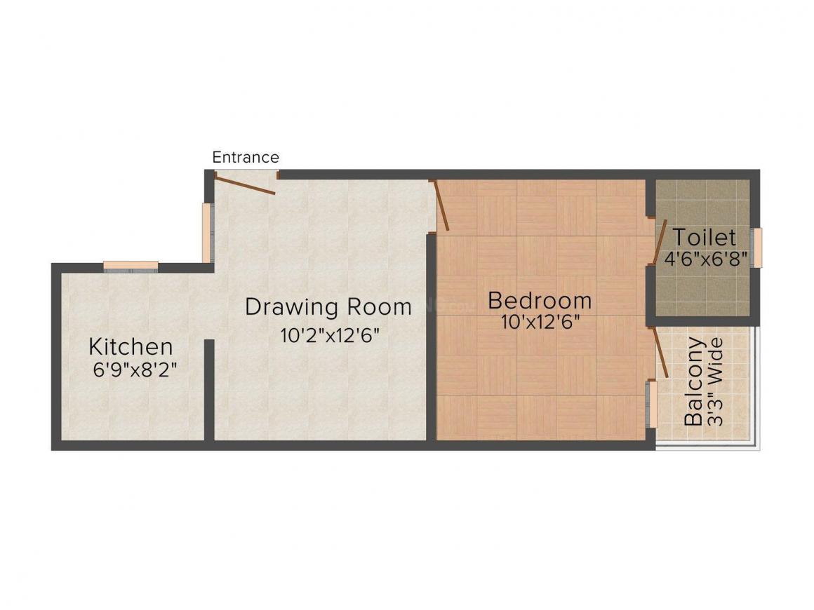 Floor Plan Image of 450 - 700 Sq.ft 1 BHK Independent Floor for buy in S Gambhir Gambhir Homes I