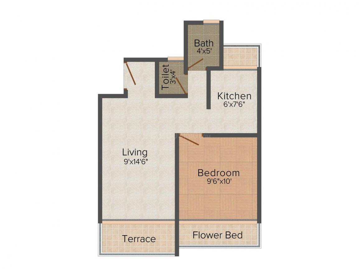 Floor Plan Image of 530 - 899 Sq.ft 1 BHK Apartment for buy in Nine Square Kailash Niwas