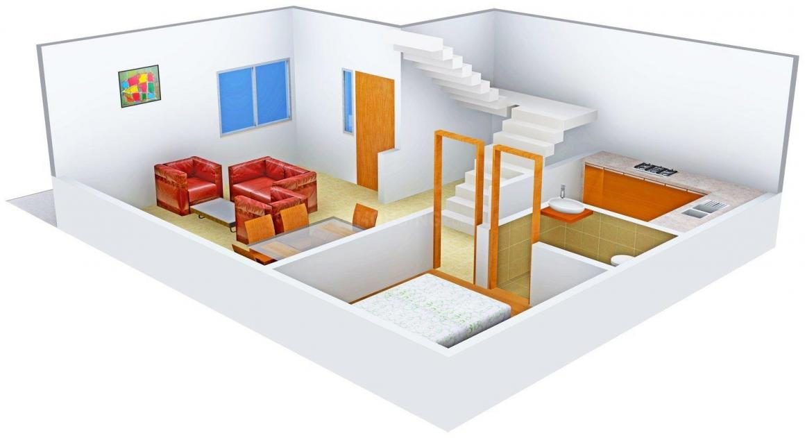 Floor Plan Image of 1725 - 1806 Sq.ft 3 BHK Villa for buy in SRD Sangamithra