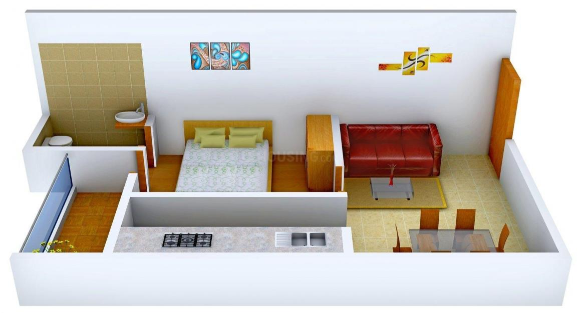 Divyanka Homes Floor Plan: 1 BHK Unit with Built up area of 550 sq.ft 1