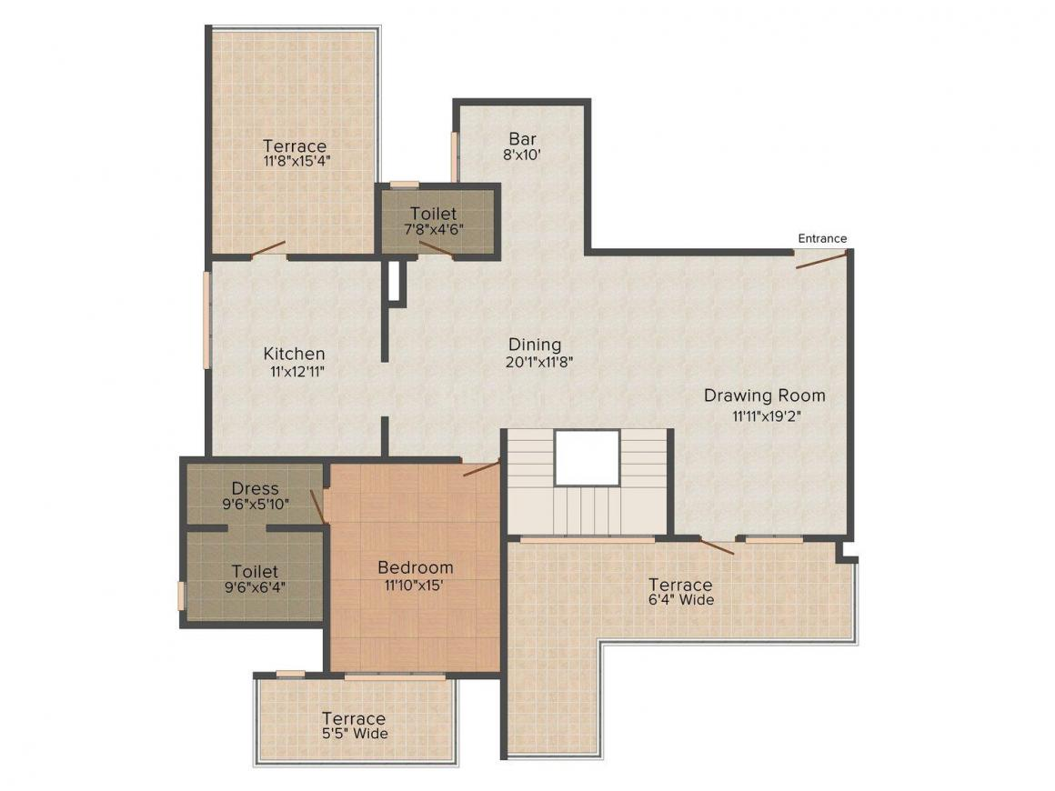 SPR Imperial Royaute Floor Plan: 4 BHK Unit with Built up area of 4124 sq.ft 2