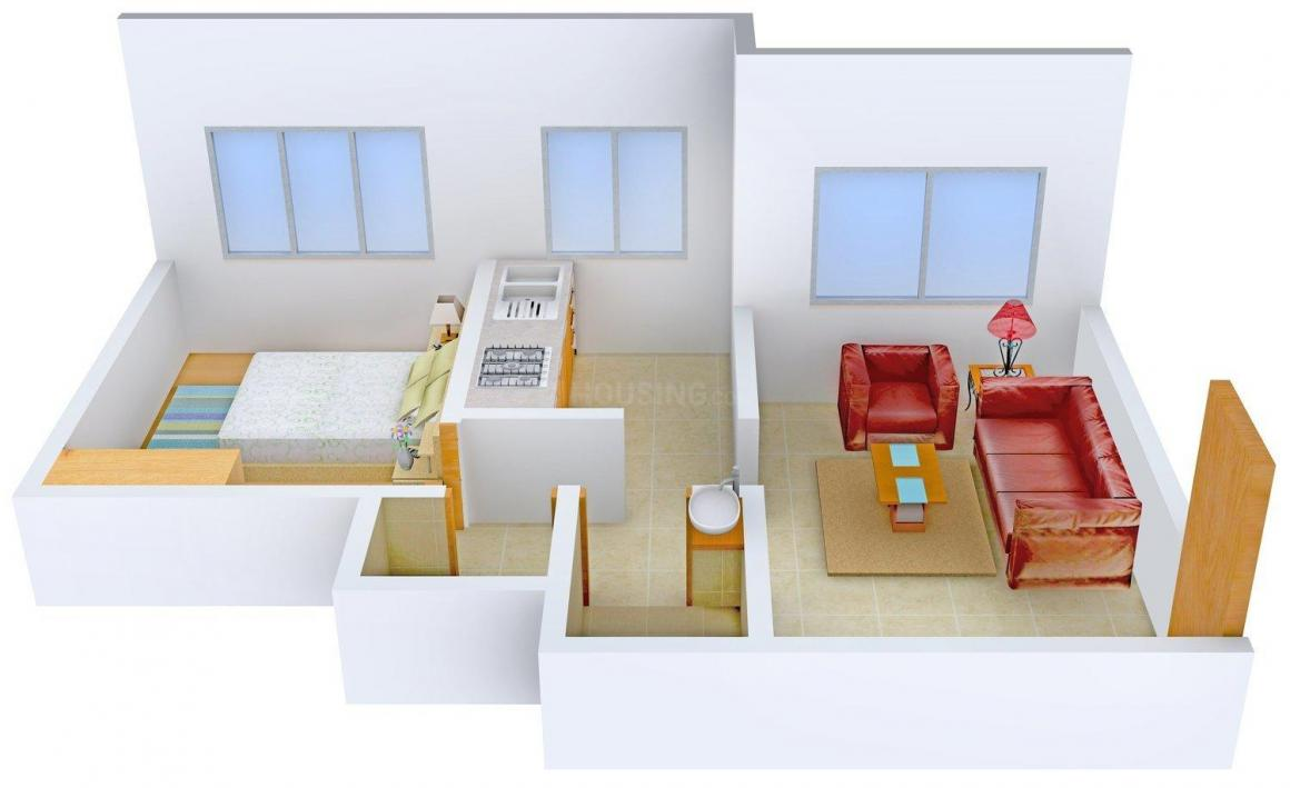 Floor Plan Image of 580.0 - 870.0 Sq.ft 1 BHK Apartment for buy in Surya Apartments
