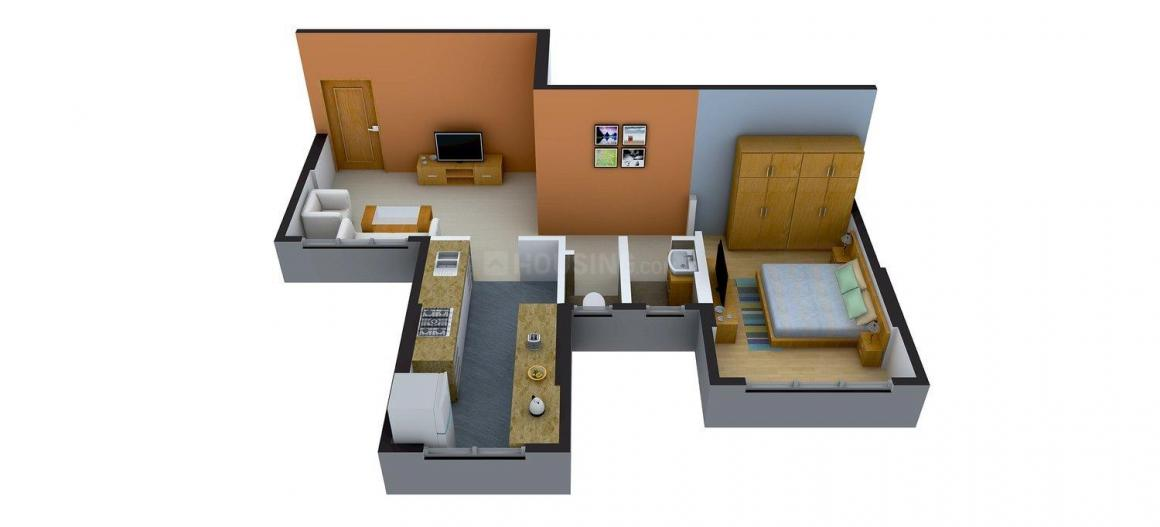 Floor Plan Image of 666.0 - 1251.0 Sq.ft 1 BHK Apartment for buy in Ladam Kashish Park