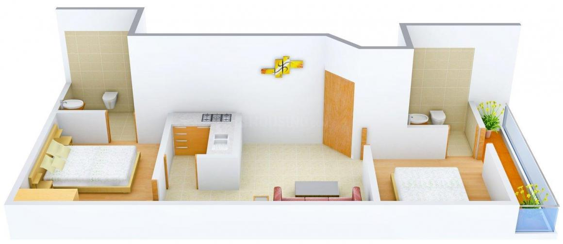 Floor Plan Image of 675.0 - 900.0 Sq.ft 2 BHK Independent Floor for buy in Southern Nair Homes