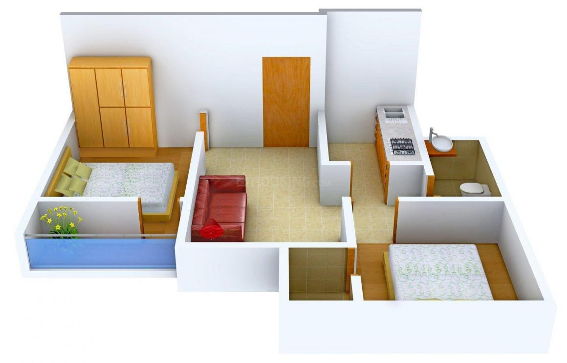 Floor Plan Image of 741 - 1088 Sq.ft 2 BHK Apartment for buy in Pacific Shristi