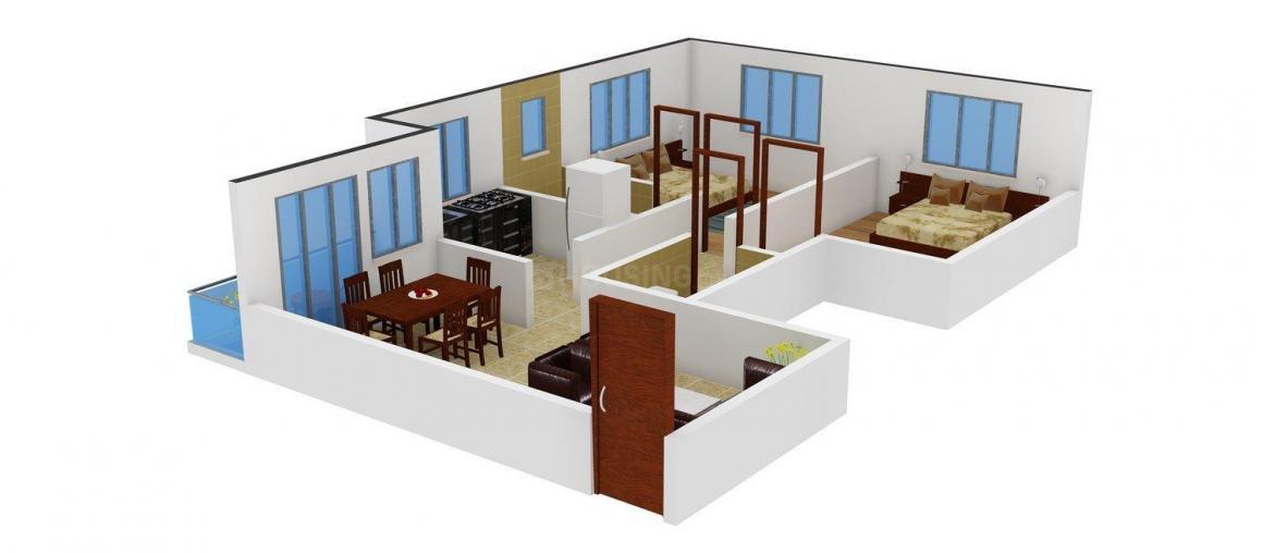 Floor Plan Image of 942.0 - 1229.0 Sq.ft 2 BHK Apartment for buy in City Garden