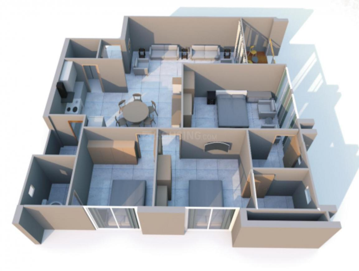 Spectrum Elegance Floor Plan: 3 BHK Unit with Built up area of 1080 sq.ft 1