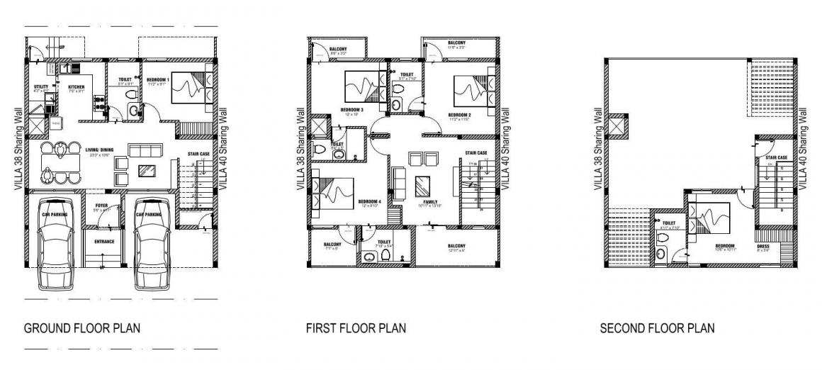 BBCL Stanburry Floor Plan: 5 BHK Unit with Built up area of 2498 sq.ft 1
